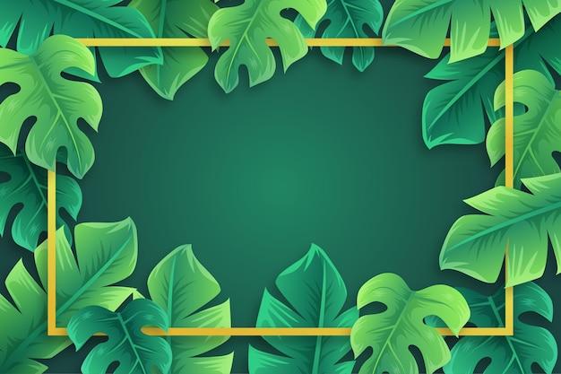 Tema de papel de parede de folhas tropicais