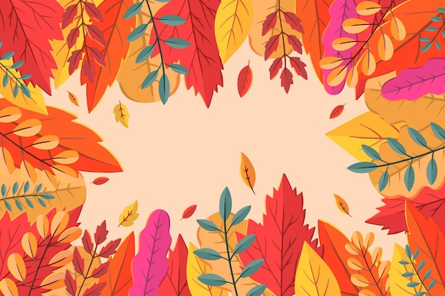 Tema de papel de parede de outono Vetor grátis