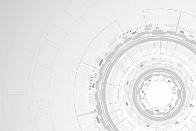 Tema de papel de parede de tecnologia branca