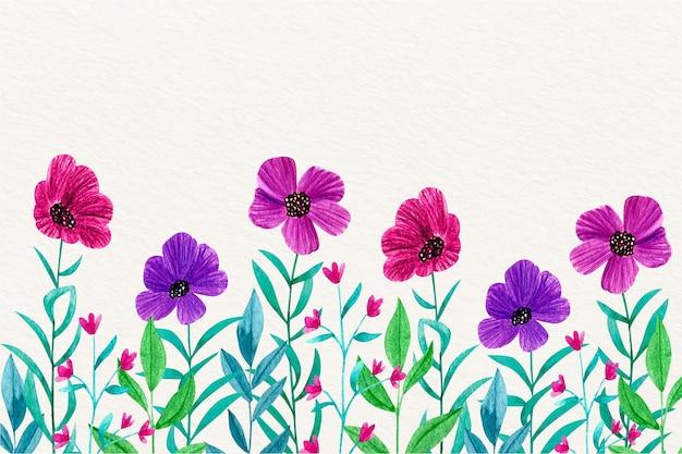 Tema de papel de parede floral em aquarela