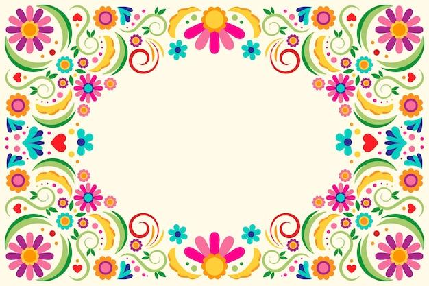 Tema de papel de parede mexicano multicolorido
