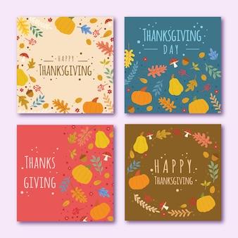Tema de postagens do instagram do dia de ação de graças