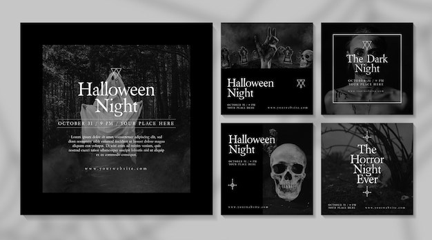 Tema de postagens do instagram do festival de halloween