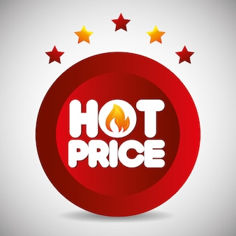 Tema de preços quentes de compras