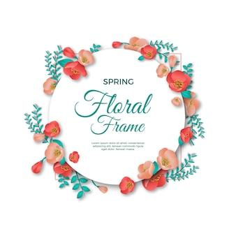 Tema de quadro floral primavera realista