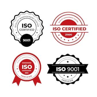 Tema de selo de certificação iso