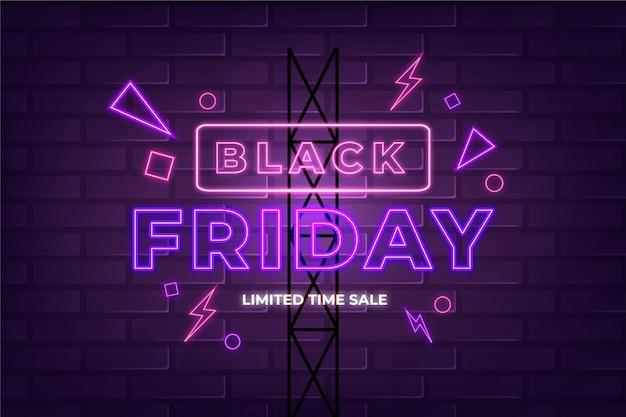 Tema de sexta-feira negra neon