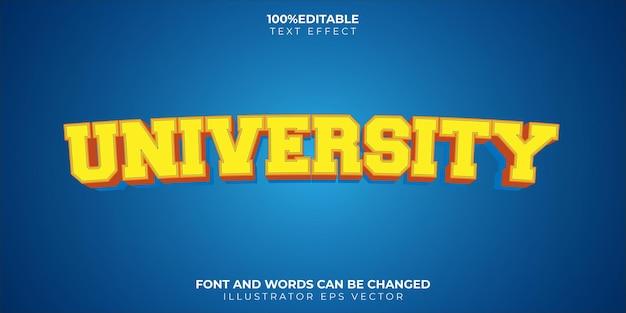 Tema de texto universitário totalmente editável em azul e amarelo