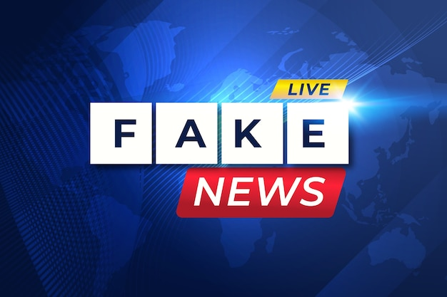 Tema de transmissão ao vivo de notícias falsas