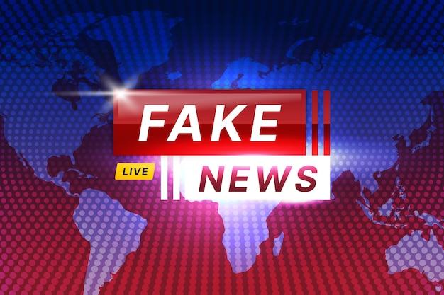 Tema de transmissão de notícias falsas