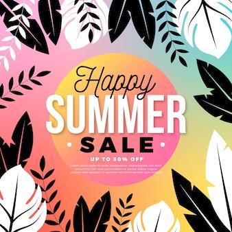 Tema de venda de verão