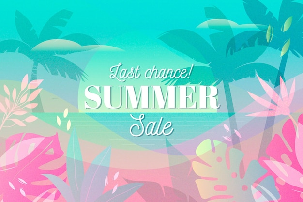 Tema de venda sazonal de verão