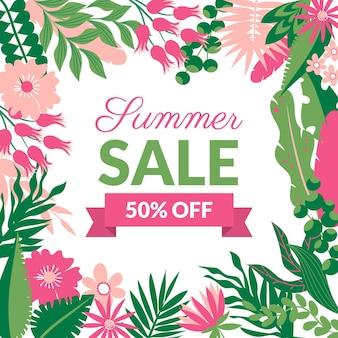 Tema de venda verão colorido