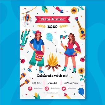 Tema do cartaz de festa junina