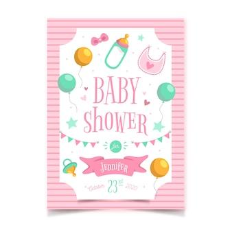 Tema do chuveiro de bebê para modelo de convite