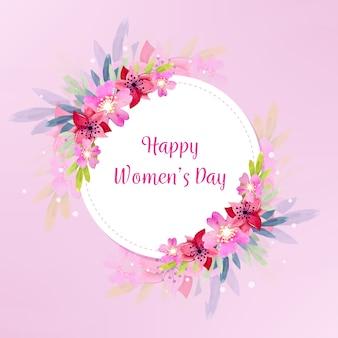 Tema do dia das mulheres em aquarela