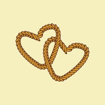Tema do dia dos namorados da corda marrom