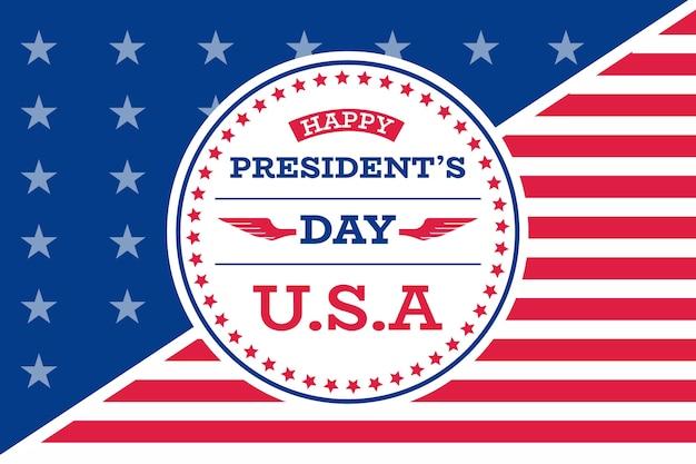 Tema do dia dos presidentes de design plano