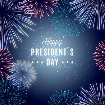 Tema do dia dos presidentes de fogos de artifício