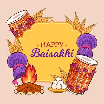 Tema do evento baisakhi feliz