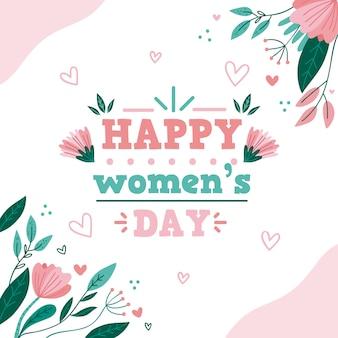 Tema do evento do dia das mulheres com flores