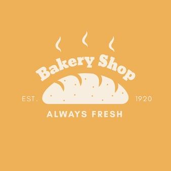 Tema do logotipo do bolo de padaria