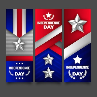 Tema do modelo de banners do dia da independência
