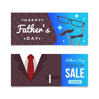 Tema do modelo de banners do dia dos pais