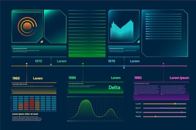 Tema do modelo de infografia futurista