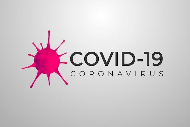 Tema do modelo de logotipo de coronavírus