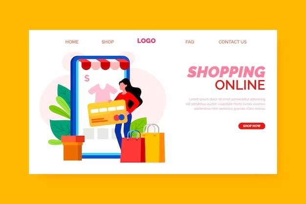 Tema do modelo de página de destino de compras online