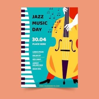 Tema do modelo de panfleto de dia internacional do jazz