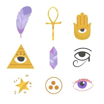 Tema do pacote de elementos esotéricos