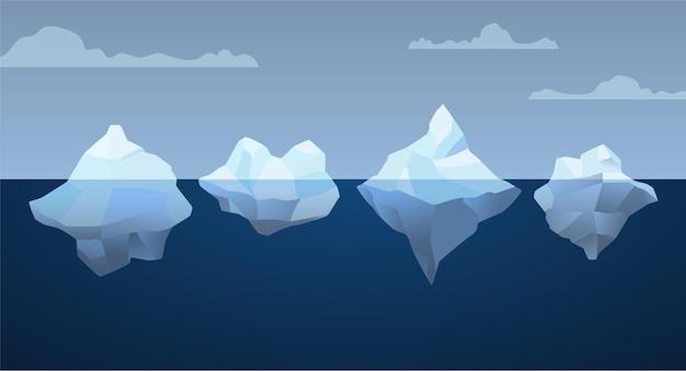 Tema do pacote de iceberg