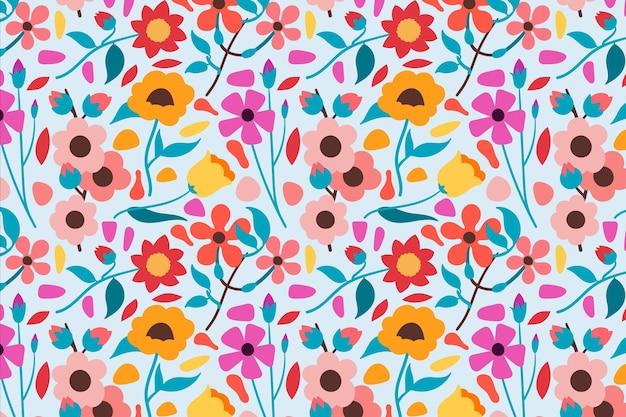 Tema do pacote de padrão floral