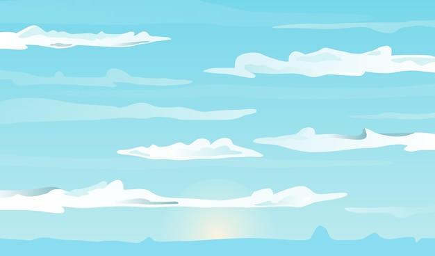 Tema do papel de parede do céu