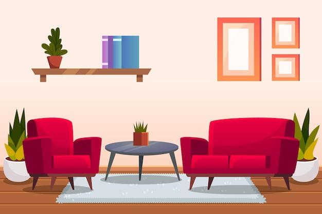 Tema do papel de parede do interior da casa