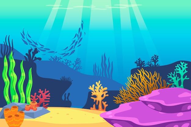Tema do papel de parede subaquático