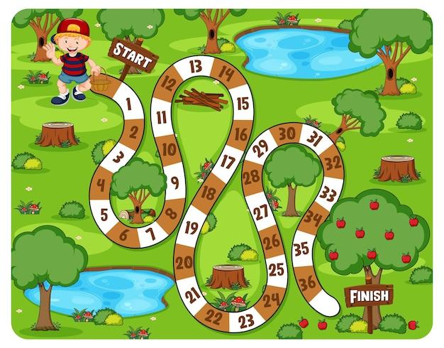 Tema do parque do jogo de tabuleiro path