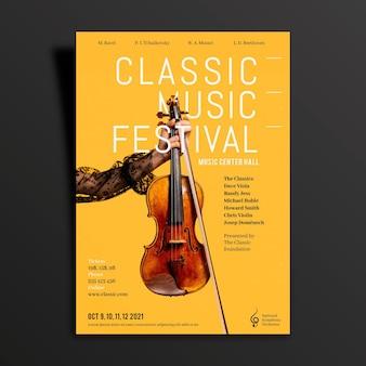 Tema do poster do evento de música 2021