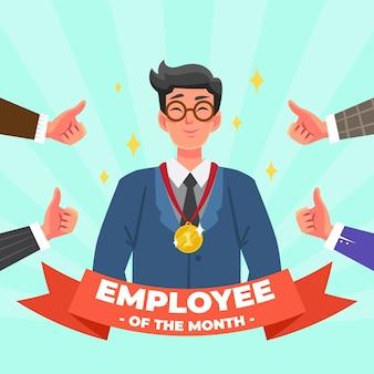 Tema do prêmio funcionário do mês