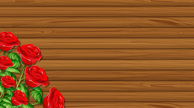 Tema dos namorados com placa de madeira e rosas vermelhas
