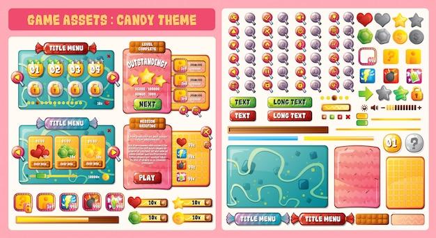 Tema dos recursos do jogo candy