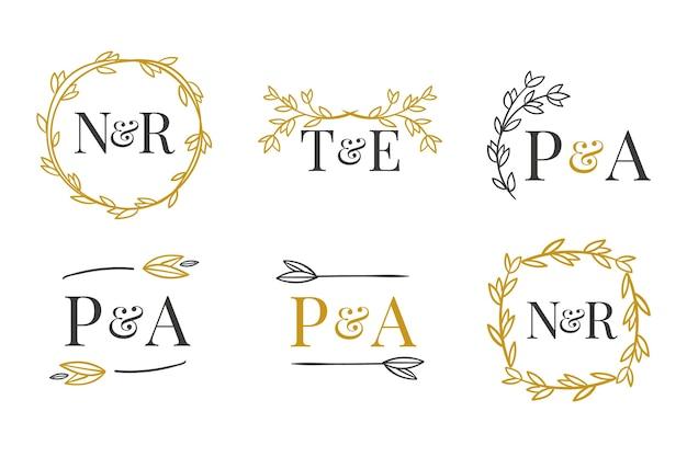 Tema elegante dos monogramas do casamento