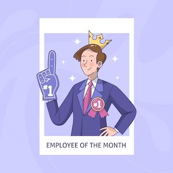 Tema empregado do mês ilustrado