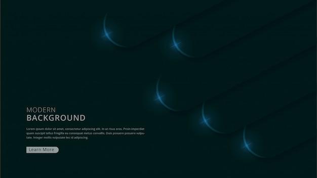 Tema escuro moderno abstrato da forma geométrica da marinha vetor premium