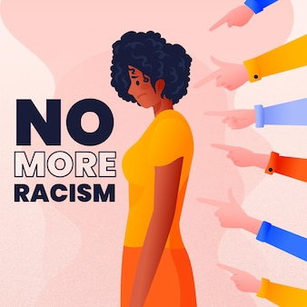 Tema ilustrado conceito de racismo
