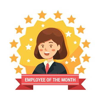 Tema ilustrado empregado do mês