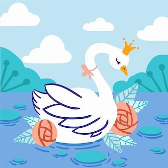Tema ilustrado princesa cisne
