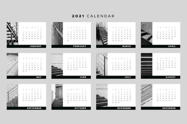 Tema modelo de calendário 2021